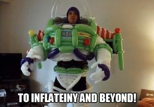 puns buzz lightyear balloon