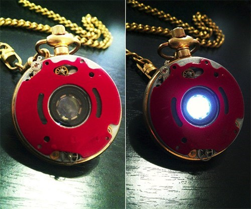 arc reactor Steampunk The Avengers iron man pocket watch - 7036045824