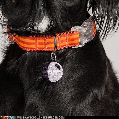 star wars Death Star pet dogs tag id