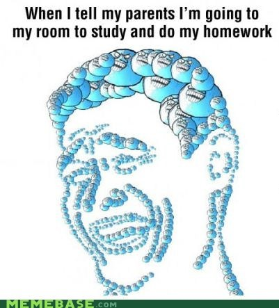 homework rage faces i lied