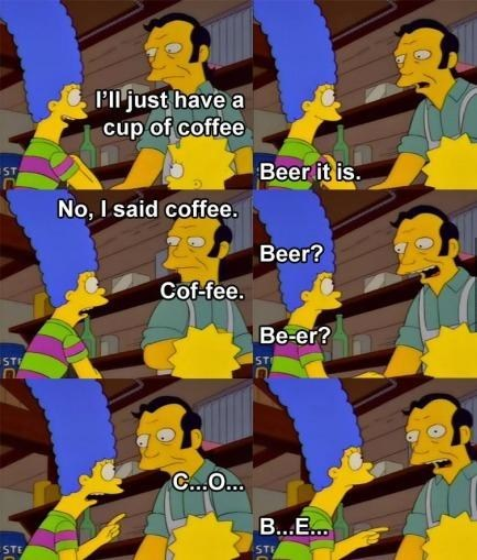 beer marge simpson coffee the simpsons - 7036172800