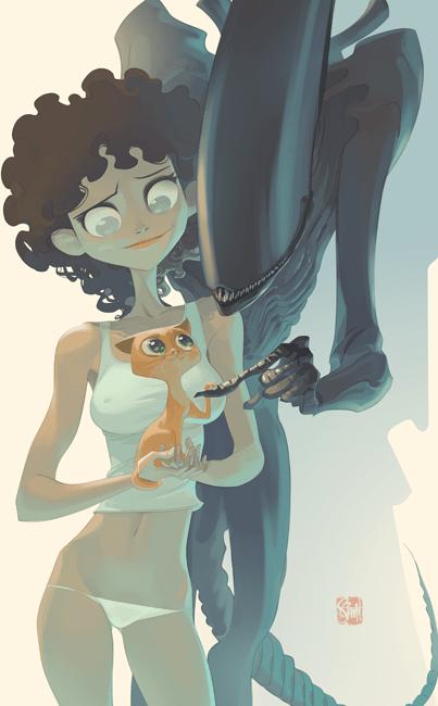 friends alien Ellen Ripley Cats xenomorphs - 7036227328