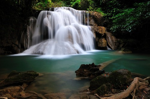 thailand,landscape,camping,waterfall