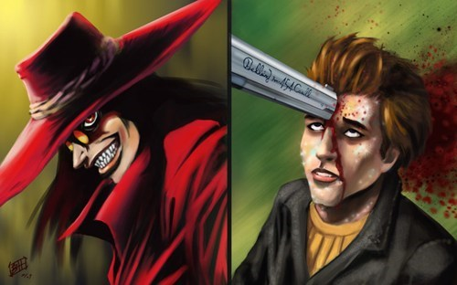 Fan Art,vampires,twilight,hellsing