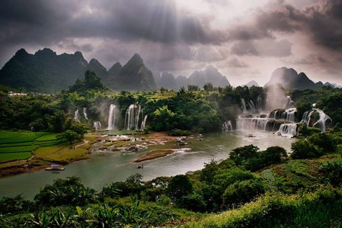 China,landscape,waterfall