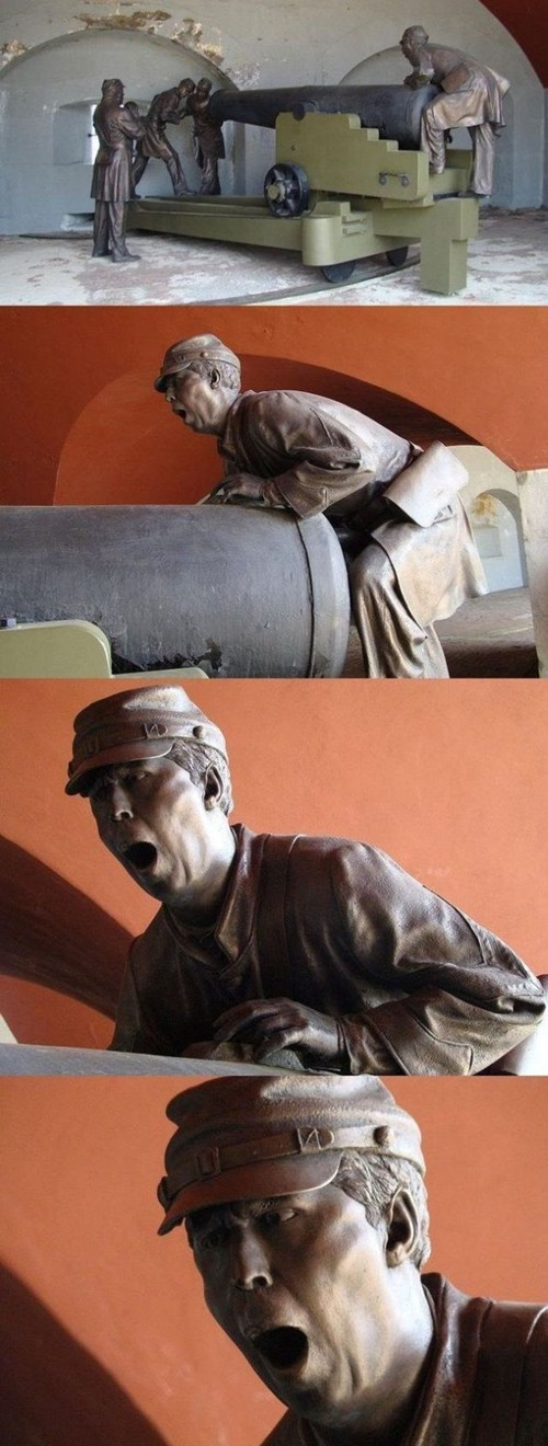 cannon,accidental sexy,statue,military