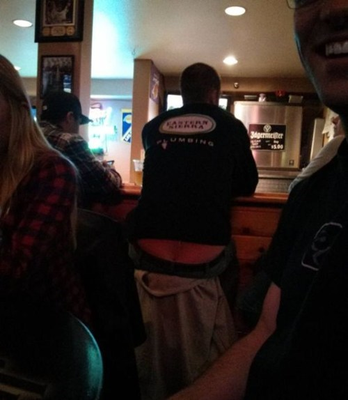 bar,plumber,plumbers crack,irony