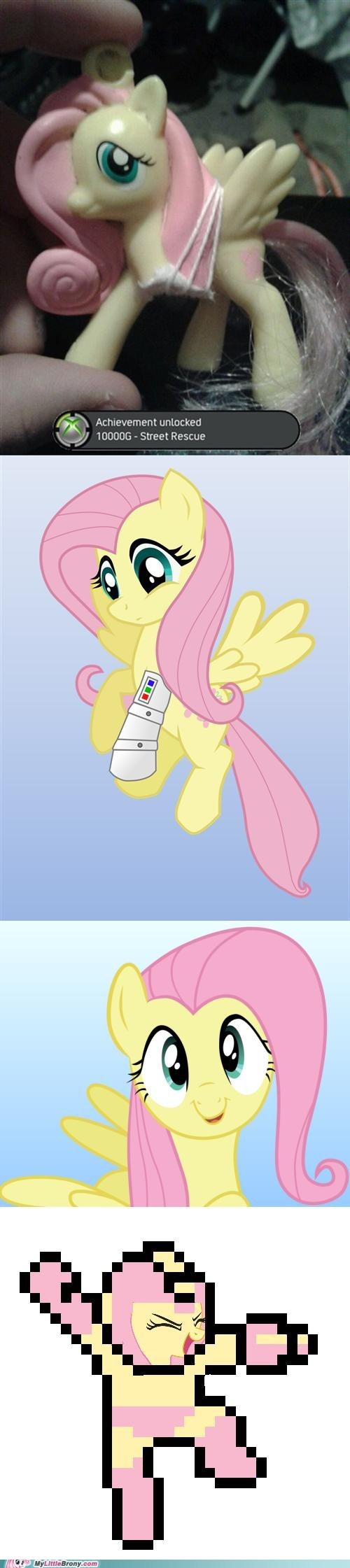 awesome,megaman X,fluttershy
