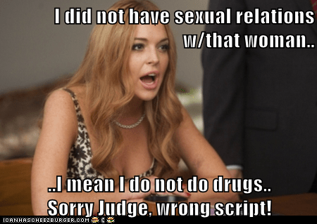drugs trial wrong lindsay lohan bill clinton - 7037107968