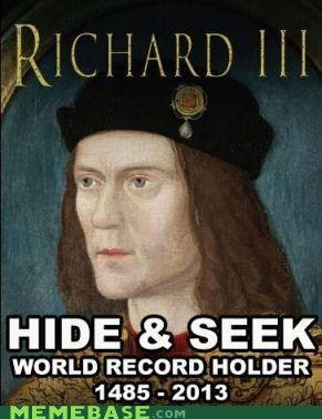 in the news,king richard III,hide and seek