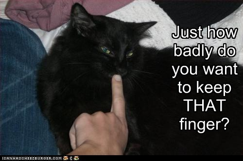 Just how badly do you want to keep THAT finger?