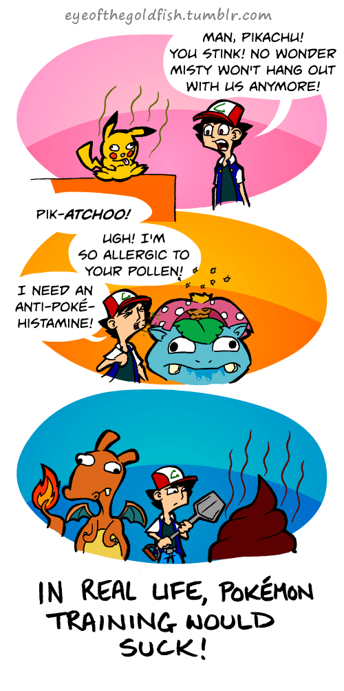 Pokémon IRL problems comic