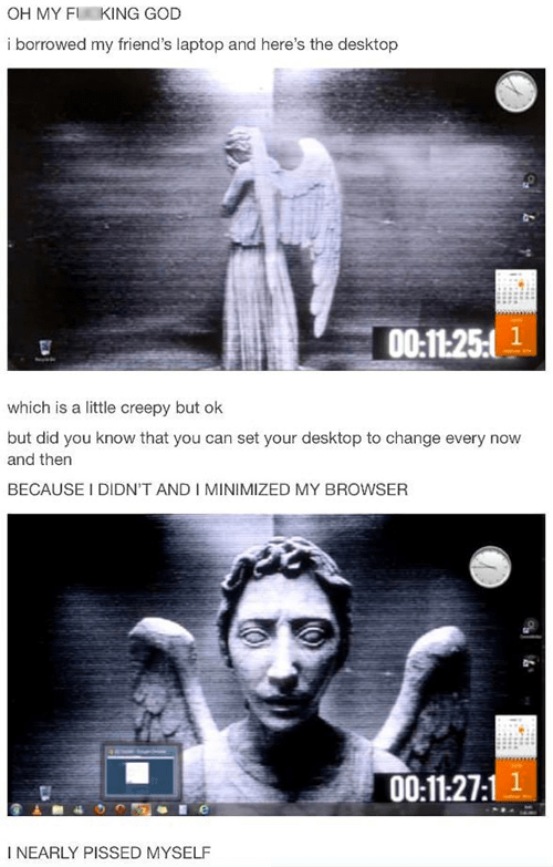 weeping angel desktop background doctor who - 7038430464