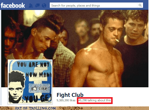 talking,facebook,fight club