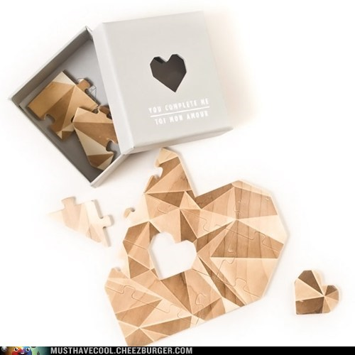 heart puzzle wood you complete me - 7038656000