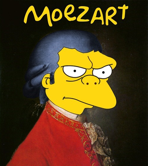 moe,prefix,mozart,homophone,the simpsons