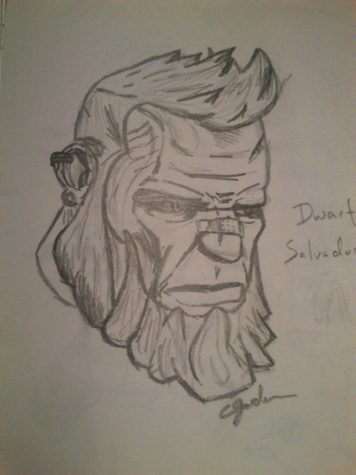 sketch Fan Art salvador borderlands 2 video games - 7038671616