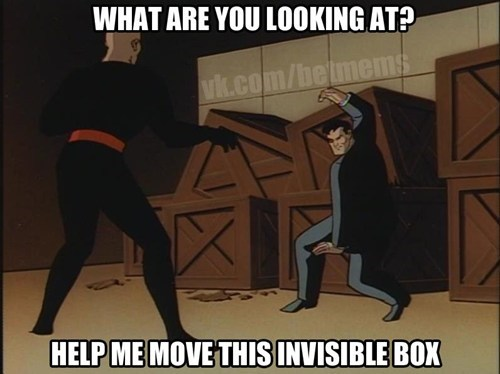 heavy box invisible batman - 7038688256