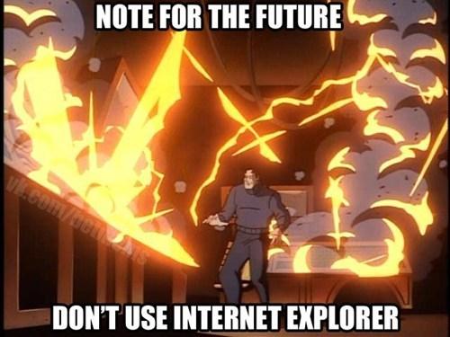 Saturday Morning Cartoons batman internet explorer - 7038692096