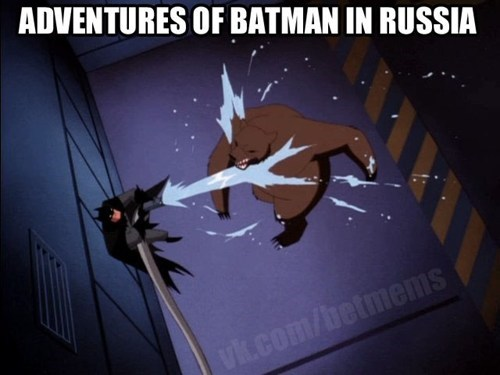fun,russia,Saturday Morning Cartoons,bear,batman