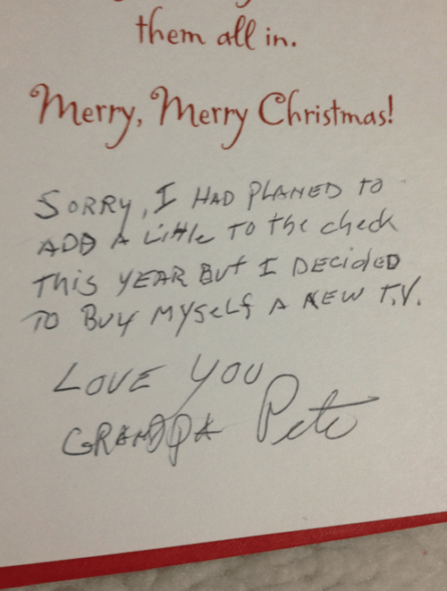 christmas cards,grandpa pete