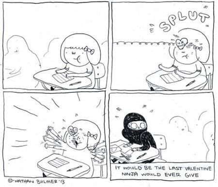 valentines ninja class comic - 7038786304