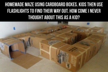 fun,boxes,maze,g rated,Parenting FAILS