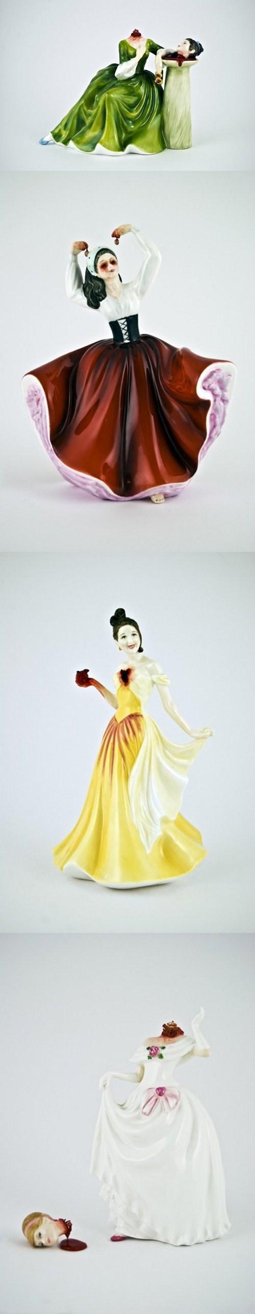 Blood creepy porcelain figurine headless - 7038894848