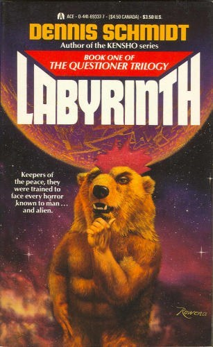 wtf,rooster,book covers,cover art,bear,thinking,books,science fiction,labyrinth
