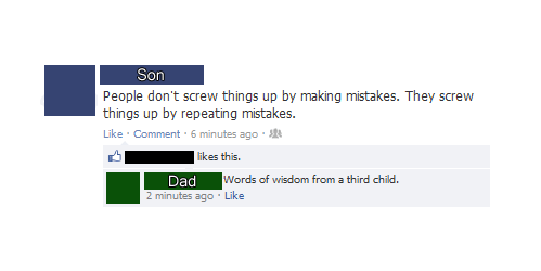 troll dad,facebook,mistake,children