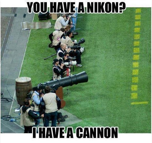 cannon,canon,brands,literalism,competing,camera,nikon,homophone