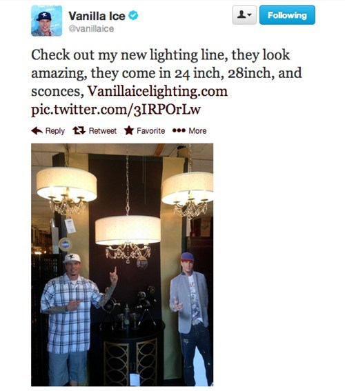 twitter Vanilla Ice light company failbook g rated