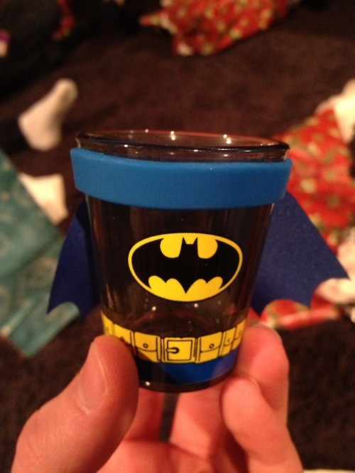 sloshed swag,shotglass,batman