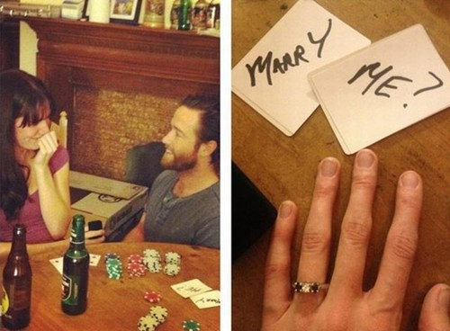 cute proposal gambling cards poker - 7039366912