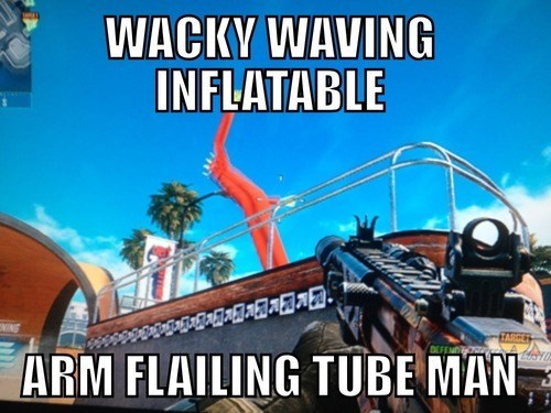 call fo duty black ops II wacky waving inflatable arm flailing tube man - 7039442944