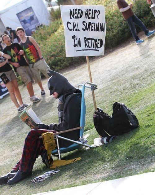 sign,Protest,retired,batman