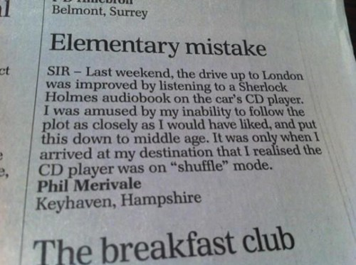 shuffle,whoops,audio book,CD player,newspaper,fail nation,g rated