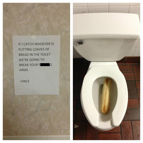 warning loaf bread toilet - 7039557632