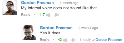 comments,youtube,gordon freeman