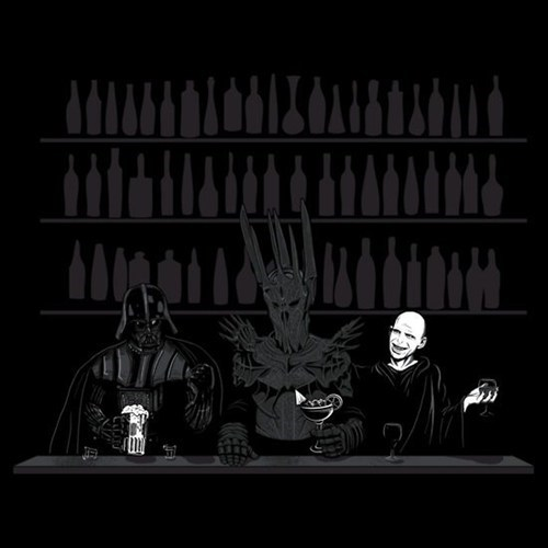 drinks,bar,Lord of the Rings,sauron,Harry Potter,voldemort,star wars,dark lord,happy hour,darth vader