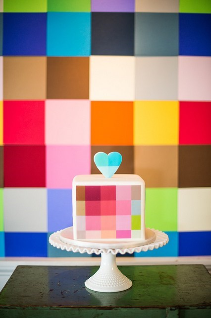 cake heart pixels just pretty colorful