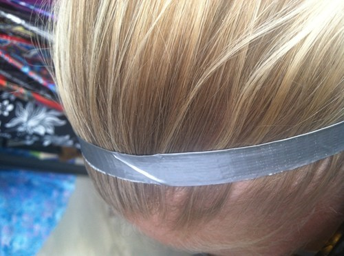 headband,haute couture,duct tape