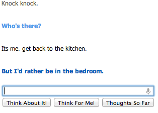 knock knock joke Cleverbot - 7041094144