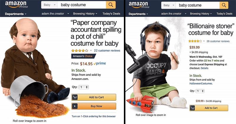 Funny baby costume parodies.