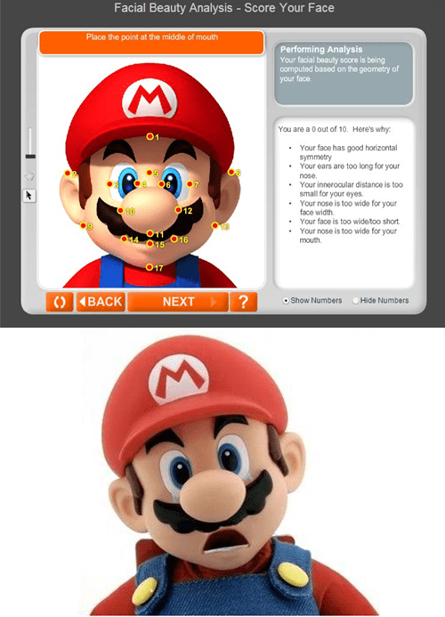 0/10 ugly mario nintendo facial beauty - 7041306880