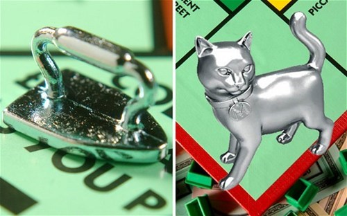 game monopoly iron board game play Cats - 7041374720