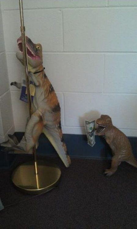 work it pole dancing t rex monday thru friday g rated - 7041383424