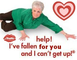 life alert i can't get up fallen Valentines day monday thru friday g rated