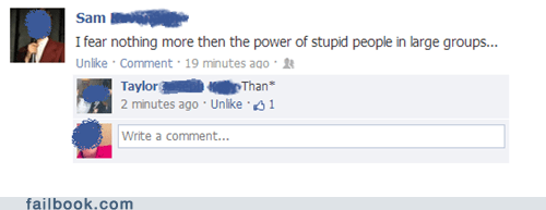 stupid people,spelling