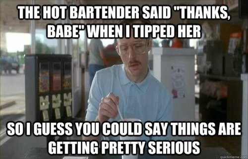 tipped getting serious hot bartender wedding - 7041628928